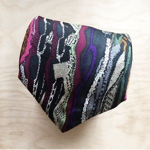 COOGI Australia Rainbow Colorful Patterned Tie